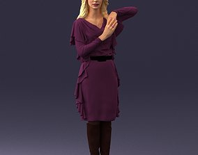 3D The blonde in the purple dress 0222