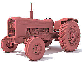 3D model Detailed Classic Tractor