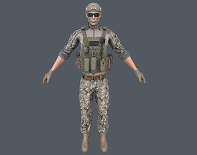 3D model game-ready Army Man