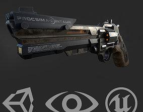 3D asset Sci-Fi Revolver
