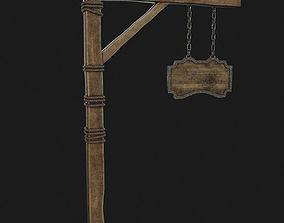 Medieval sign 3D model