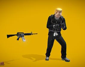 Battle Royale Robber 3D model