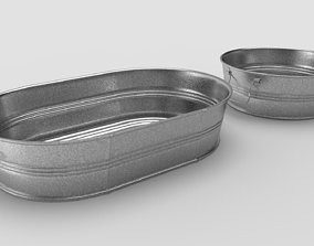 3D model Metal Tubs - Round and Oval