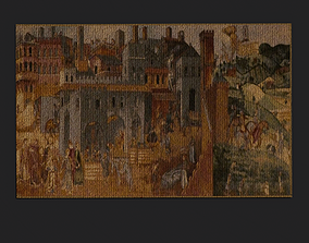 3D asset realtime Allegory of Good Government Tapestry