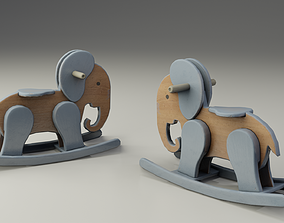 Children toy elephant 3D asset realtime
