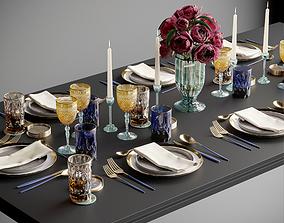 3D household Tableware Set