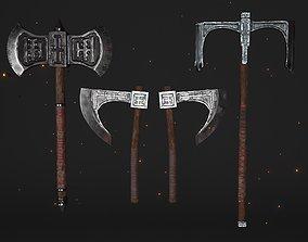 3D Fantasy Cults Axe Set - Plus Fire Ring