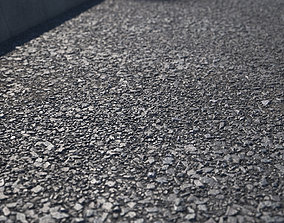 Large area seamless new asphalt 3D model