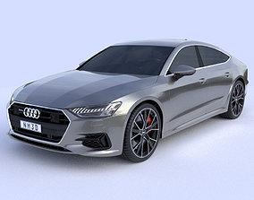 Audi A7 2019 3D model europe