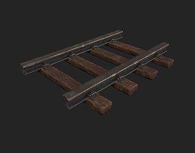 Stylized Modular - Railyway Track - Train Track 3D asset