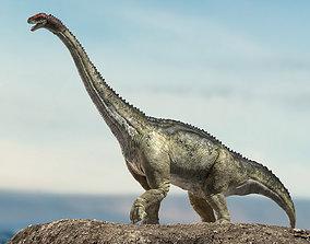 brontosaurus 3D Rigged model rigged