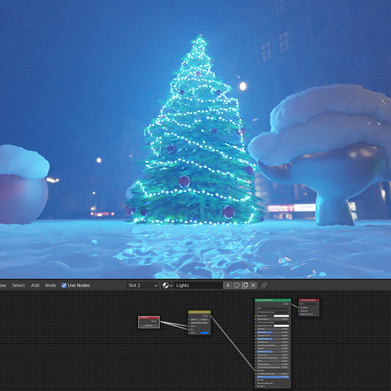 Christmas Tree Indoor Version 2 (Blender-2.91 Cycles Render)