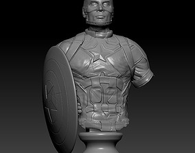 3D printable model Captain America Bust