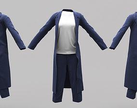 3D asset Female Clothing 03