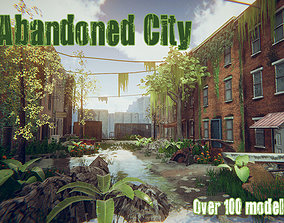 Abandoned City 3D asset