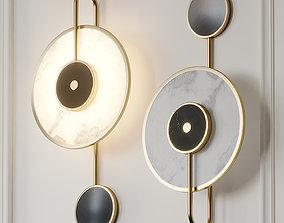 3D Natural Marble LED Wall Lamp