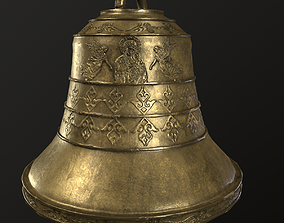 church bell 3D asset game-ready