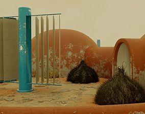 Mars Frontier Scene 3D asset