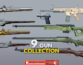 3D Weapon - Gun - Mega 9 Guns Bundle Pack