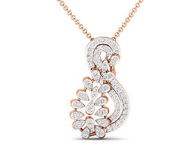 Women pendant 3dm stl render detail white engagement