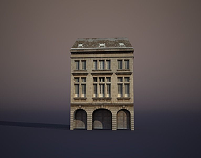 3D asset Apartment House city-block
