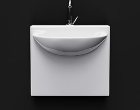 3D ArtCeram Wall Mini Washbasin