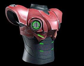 3D High quality Hard Surface Cyborg body armor