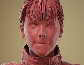 Facial Expression 0-07 Mouth Closed Firm 3D