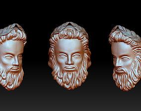 Zeus face ring 3D printable model