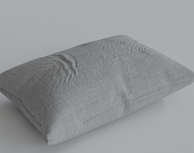 pillow 3D model grey