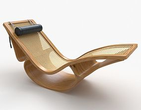 Rio Chaise Lounge Teak Corona furniture 3D