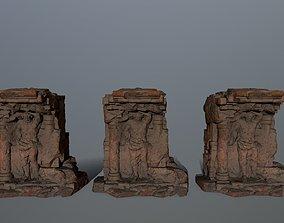 3D model low-poly cesare statue 2