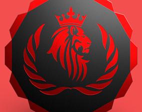 3D model Lion emblem 01