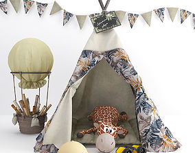 3D Wigwam for children with decor