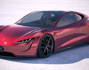 LowPoly Tesla Roadster 2020 3D asset
