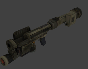 M9A1 Rocket Launcher - Bazooka low-poly 3D game-ready