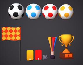 Soccer Props Cartoony Football Asset 3D model
