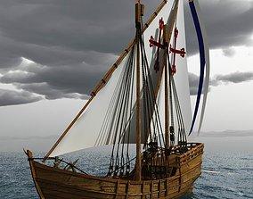 Nina Sailing Vessel 3D model
