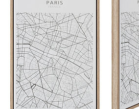 Uptown painting 50 x 70 cm Paris 3D model