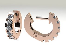 3D print model Half Infinity Diamond Hoop 2mm
