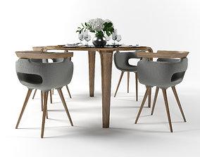 3D model Dining furniture set 1506