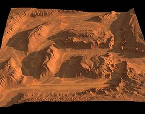 High-poly canyon 3D