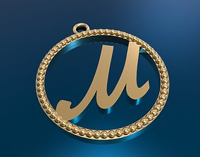 3D print model modern alfafit pendant