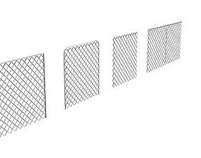 Wired Fence Pack 3D model