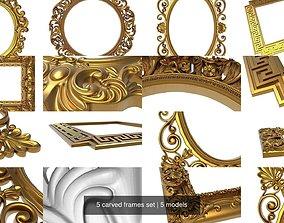 3D 5 carved frames set
