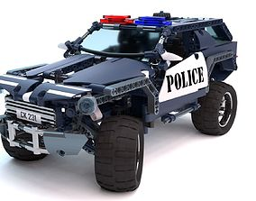 3D rigged Police Car Lego and special Bonus