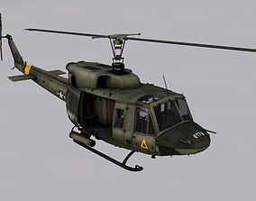 3D model Bell UH-1N Twin Huey
