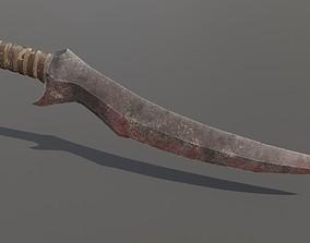 3D asset Orc Dagger