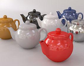 3D model Colorful Teapot Set