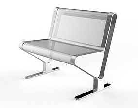 3D model Waiting Room Seat V2 1 Big Seat